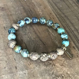 Bracelets - African Turquoise Essential Oil Diffuser Bracelet - Aromatherapy Bracelet