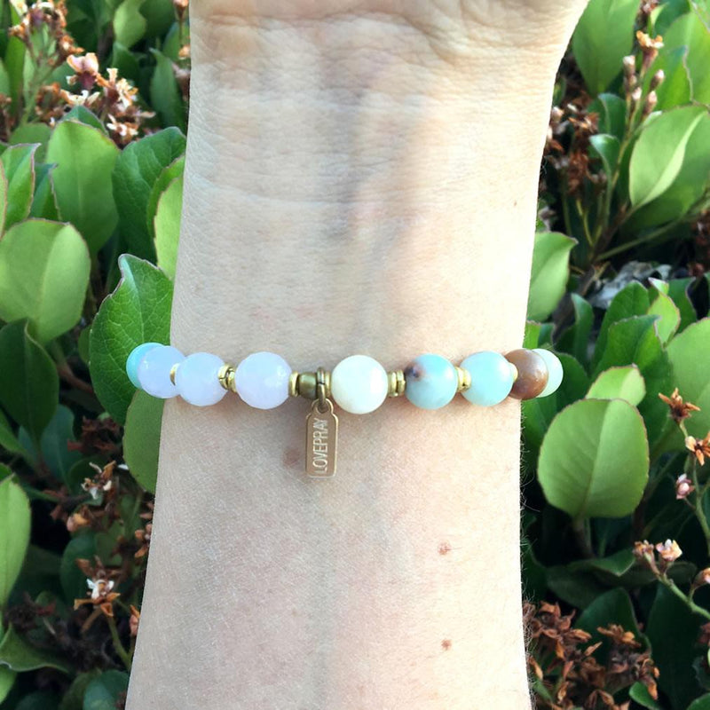 "Bracelets - Amazonite And Rose Quartz ""Positivity And Healing"" Bracelet"