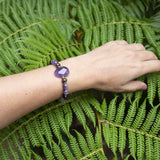 Bracelets - Amethyst And Cloudy Quartz Crystal Gemstone Bracelet