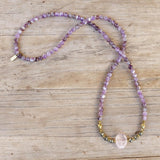 Bracelets - Amethyst And Rose Quartz Mala Bracelet