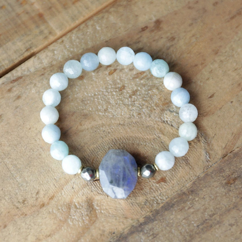Bracelets - 'Calm' Aquamarine And Labradorite Bracelet