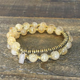 Bracelets - Citrine 'Success' 27 Bead Wrist Mala Bracelet