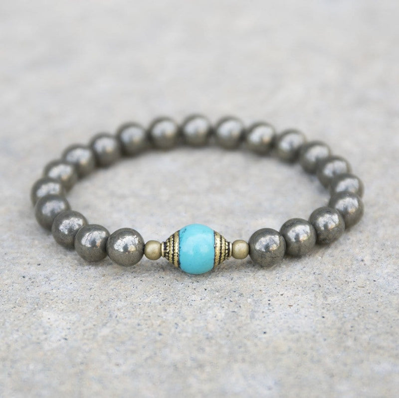 Bracelets - 'Confidence And Persistence' Pyrite Gemstone Bracelet