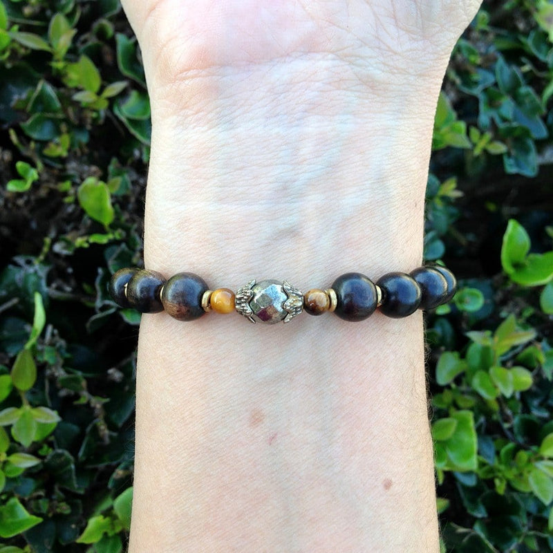 Bracelets - Confidence, Ebony And Pyrite Bracelet