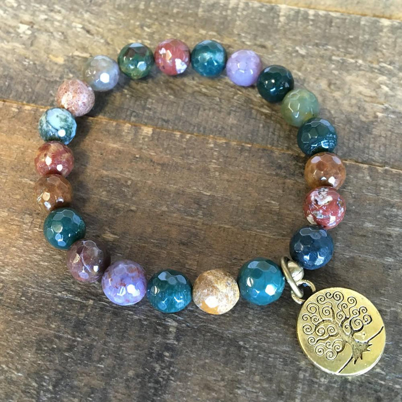 Bracelets - Faceted Fancy Jasper 'Protection' Bracelet
