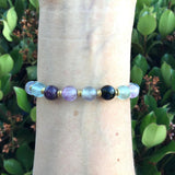 "Bracelets - Fluorite And Onyx ""Cleansing And Soothing"" Bracelet"