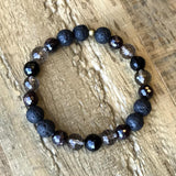 Bracelets - Grounding, Root Chakra Aromatherapy Lava Rock And Gemstones Diffuser Bracelet