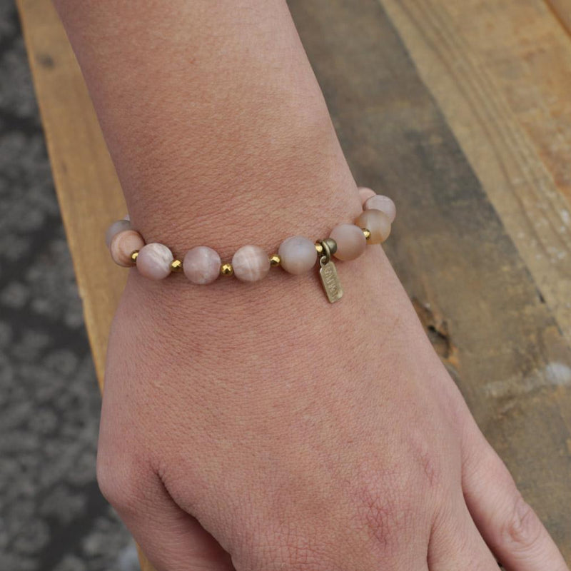 Bracelets - Joy - Matte Genuine Sunstone Bracelet