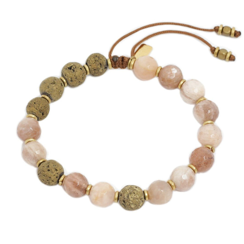 Bracelets - 'Joy' Sunstone Essential Oil Diffuser Adjustable Bracelet