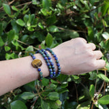 Bracelets - Lapis Lazuli And Tiger's Eye 108 Bead Mala Bracelet