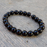 Bracelets - Patience And Soothing, Genuine Onyx Gemstone Mala Bracelet