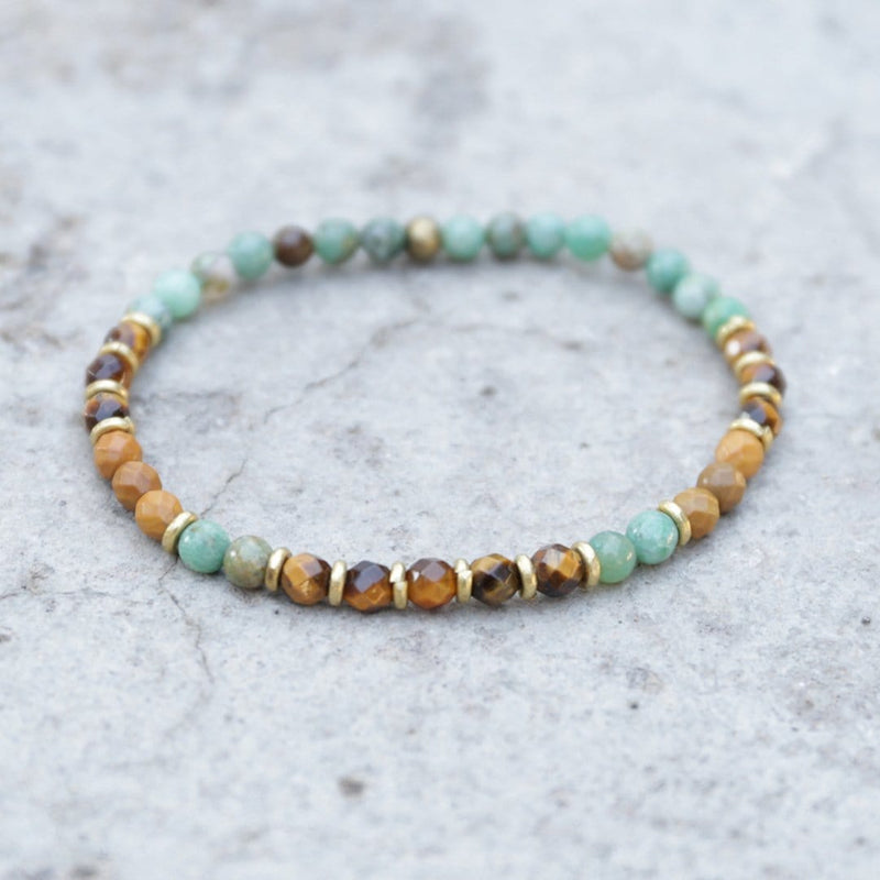 "Bracelets - ""Prosperity And Good Luck"" Jade And Tigers Eye Delicate Bracelet"