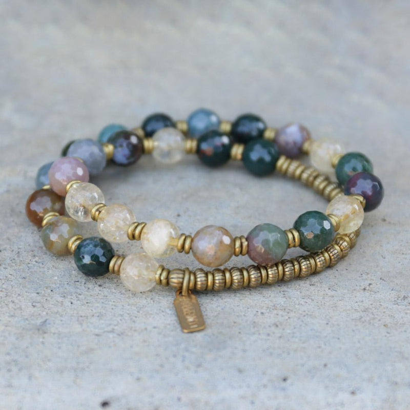 Bracelets - Prosperity And Success, Jasper And Citrine Mala Bracelet