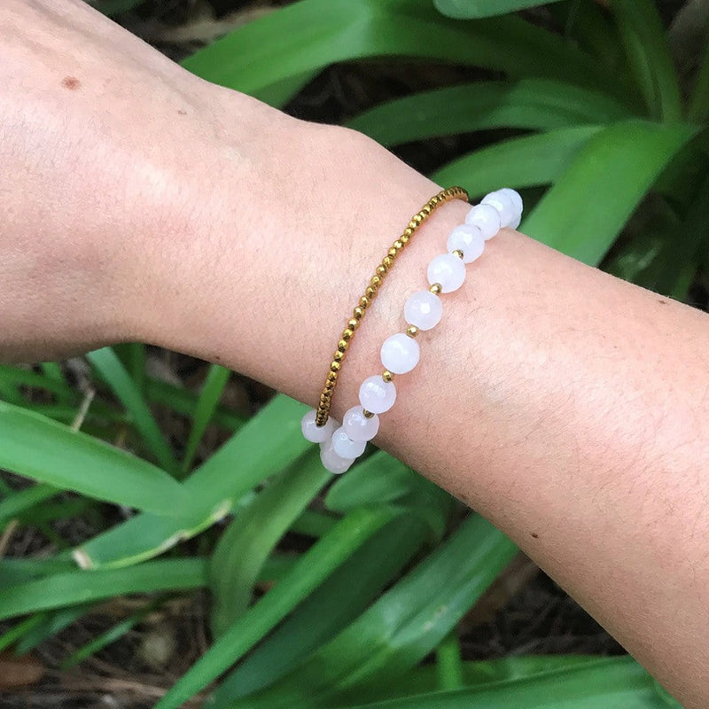 Bracelets - Rose Quartz Wrist Mala Bracelet Or Choker For Love
