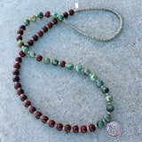 Bracelets - Rosewood And African Turquoise 'Beauty And Change' 54 Bead Mala Bracelet Or Necklace