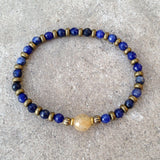 "Bracelets - Sodalite And Yellow Quartz Fine Faceted ""Peace And Joy"" Bracelet"