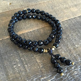 Bracelets - Soothing And Patience, Onyx 54 Bead Mala Wrap Bracelet