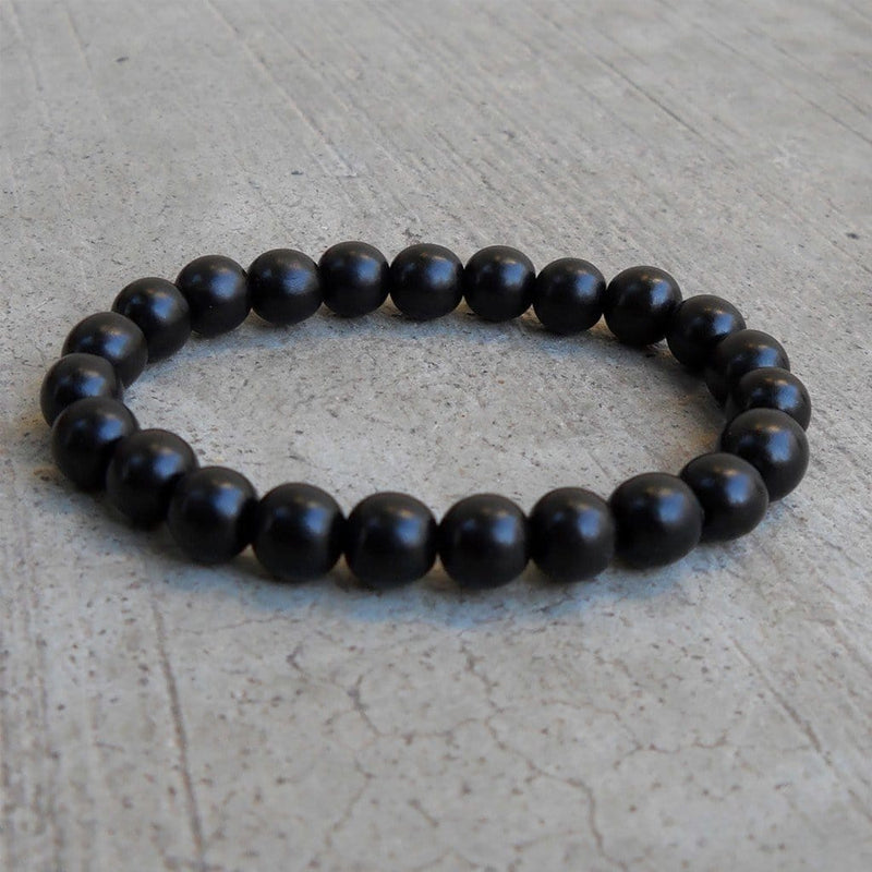 Bracelets - Strength, The Basic Genuine Ebony Mala Bracelet