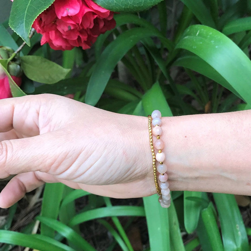 Bracelets - Sunstone Delicate Wrist Mala Bracelet Or Choker For Joy