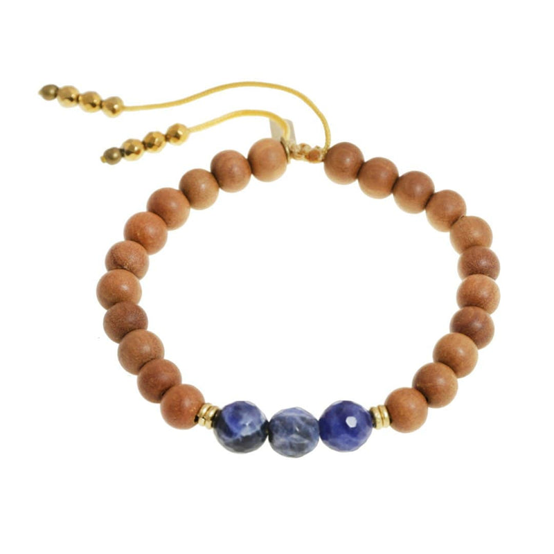 Bracelets - Third Eye Chakra Sandalwood Adjustable Bracelet