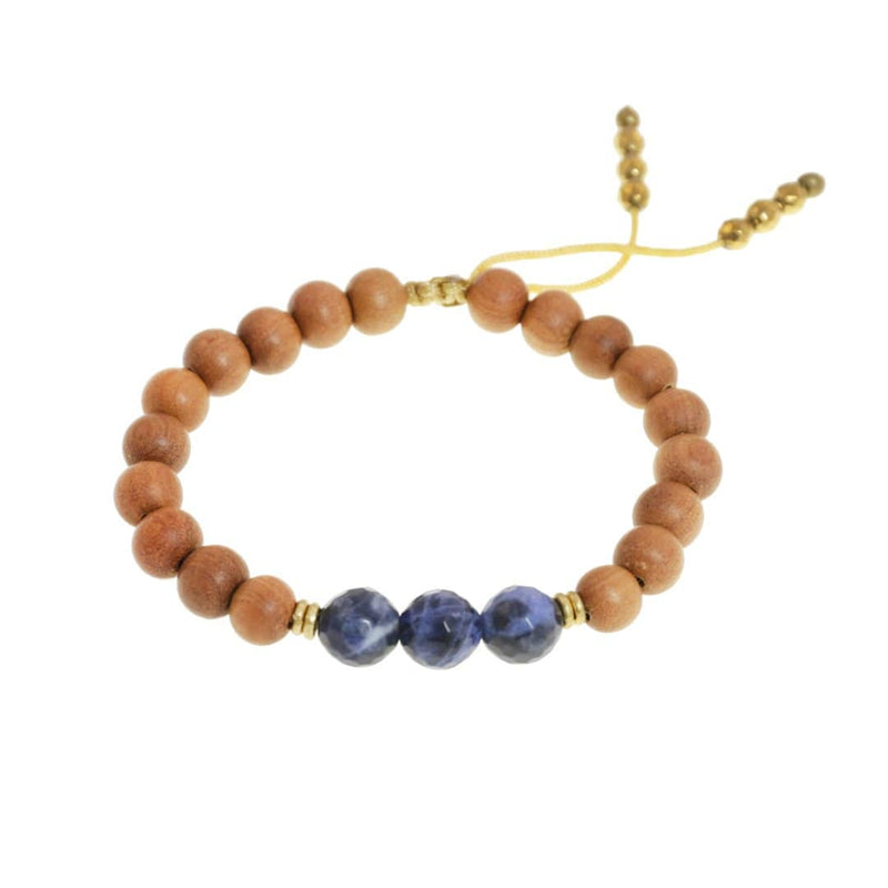 Bracelets - Third Eye Chakra Sandalwood Adjustable Kid's Chakra Bracelet