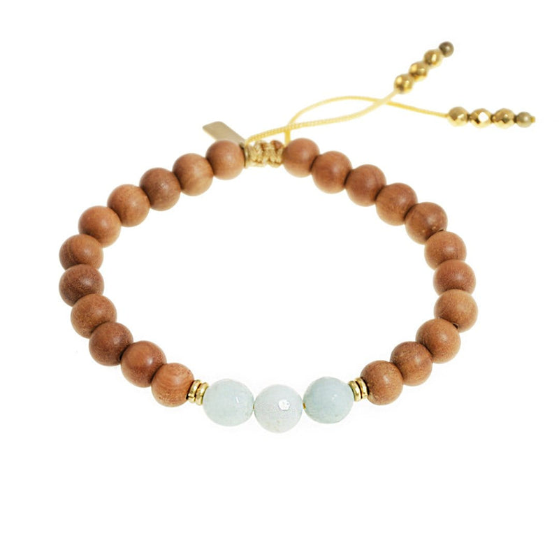 Bracelets - Throat Chakra Sandalwood Adjustable Bracelet