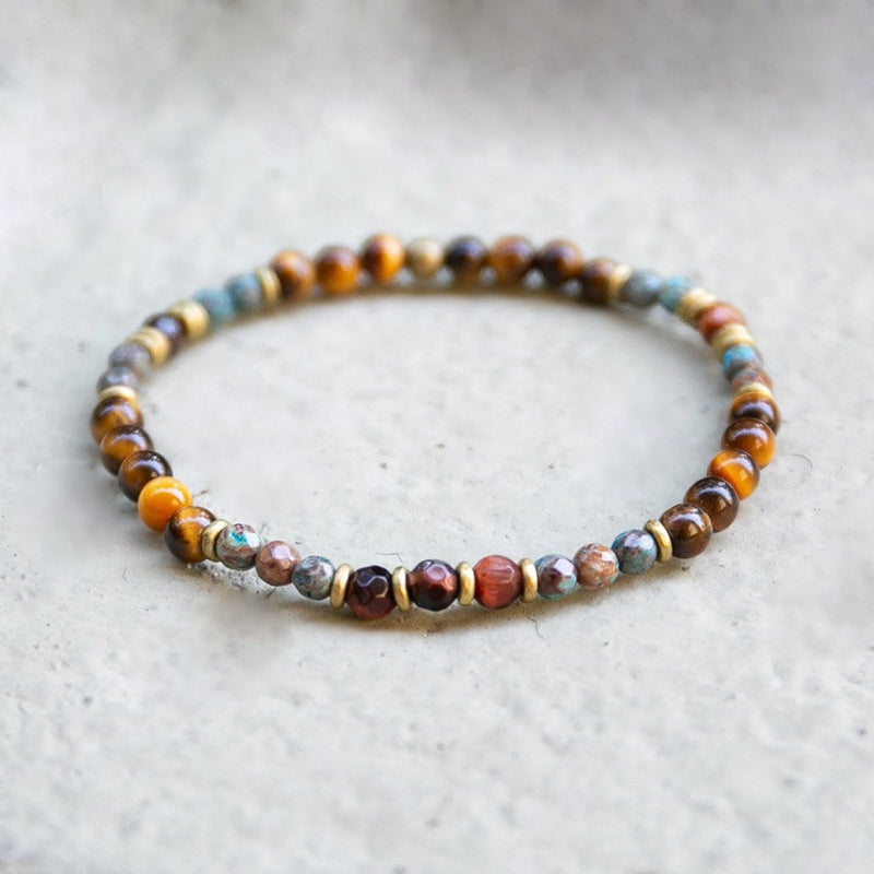 Bracelets - Tiger's Eye And Agate Delicate Bracelet