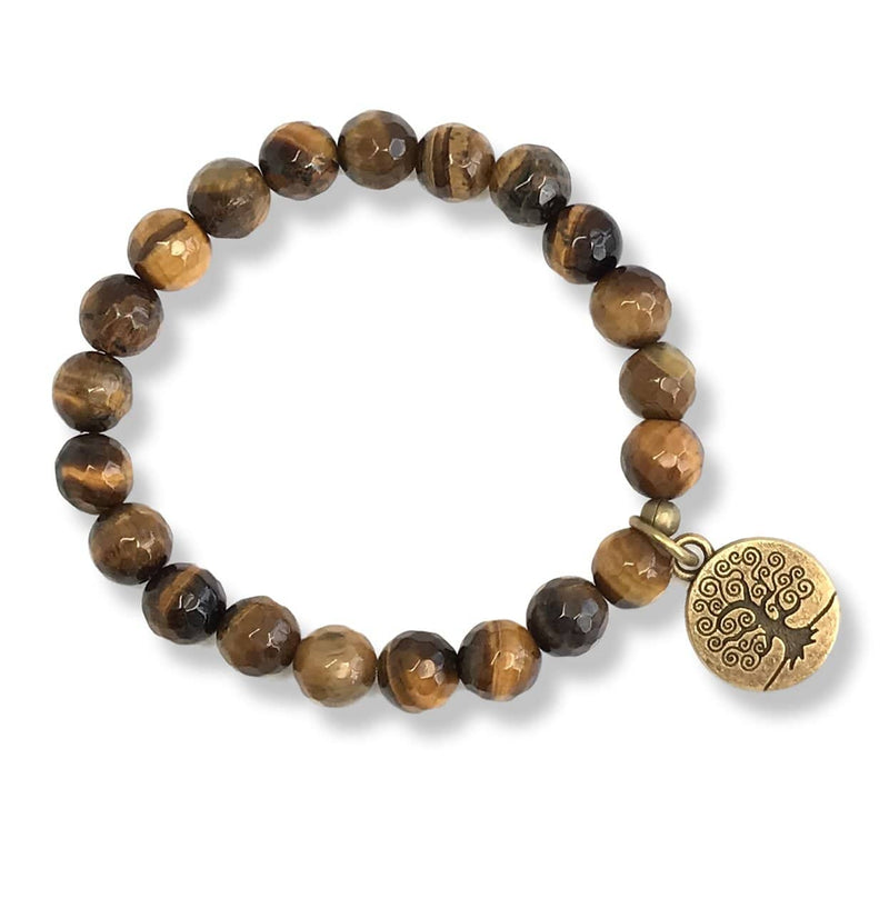 Bracelets - Tiger's Eye Beaded Bracelet