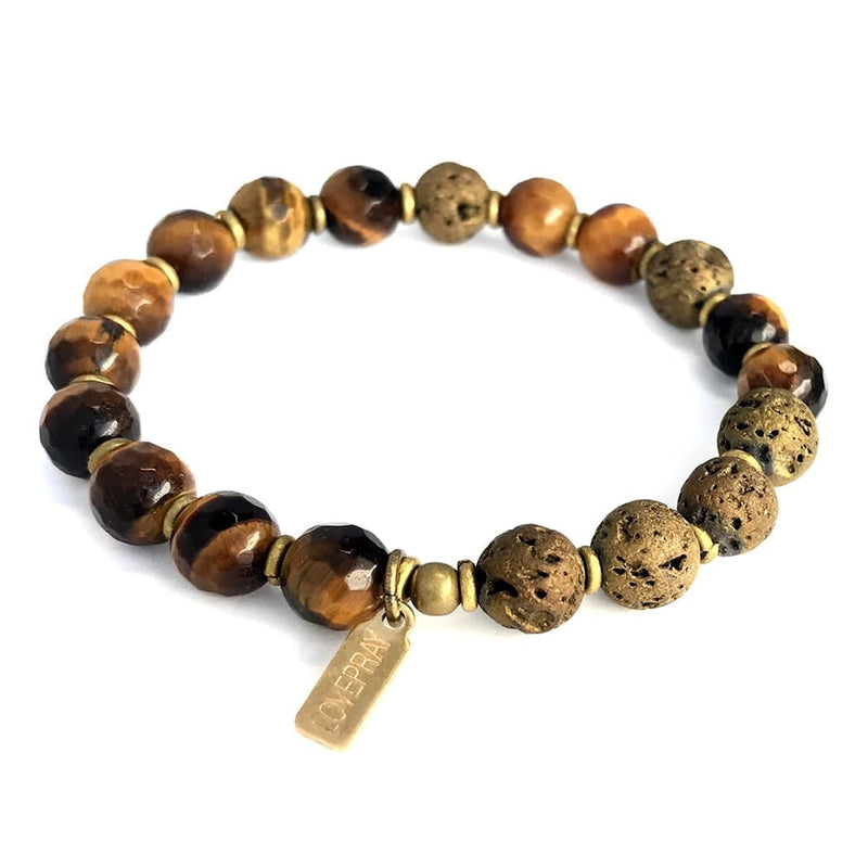 Bracelets - Tigers Eye Essential Oil Diffuser Bracelet