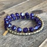 Bracelets - Wrist Mala Bracelet With 27 Beads Amethyst For Healing
