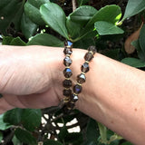 Bracelets - Wrist Mala Bracelet With 27 Beads Smoky Quartz For Positivity