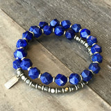Bracelets - Wrist Mala Bracelet With 27 Beads With Lapis Lazuli For Intuition