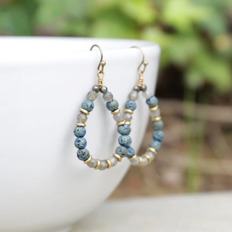 Earrings - 'Serendipity' Labradorite Aromatherapy Earrings