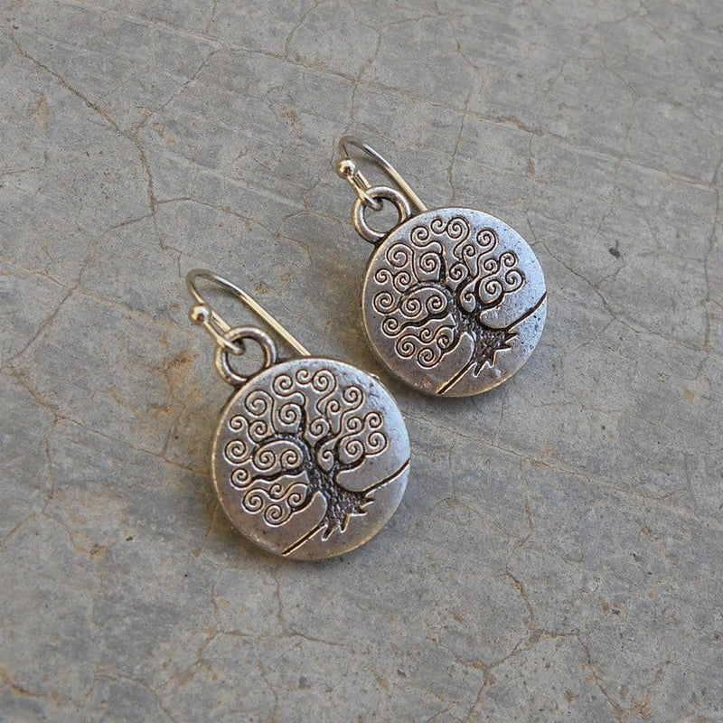 Earrings - Silver Tree Earrings