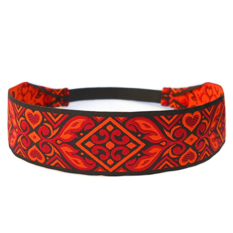 fire within me, black, red and orange  headband