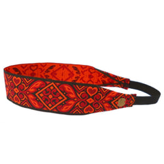 Headbands - Fire Within Me, Black, Red And Orange  Headband