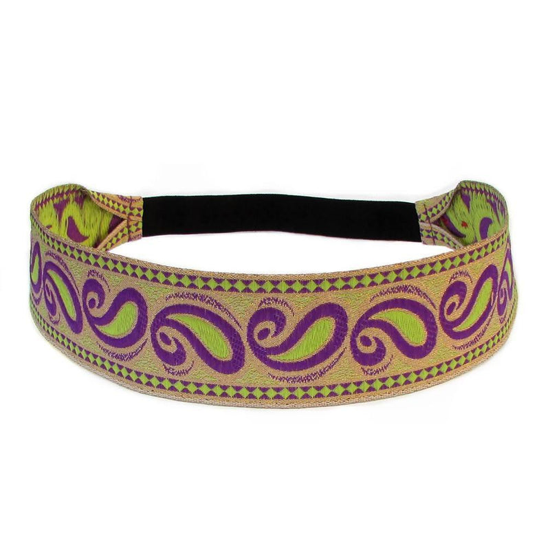 Headbands - Hypnotic, Purple Paisley Headband