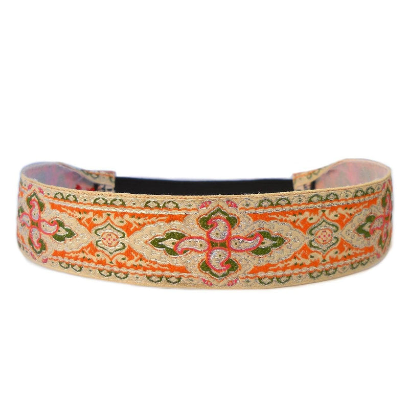 Headbands - Intricate Maroque, Beige And Coral Boho Chic Headband