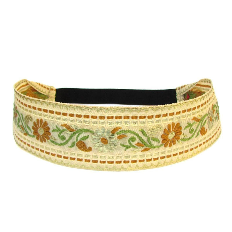 Headbands - Provence, Vintage Gold Flower Headband