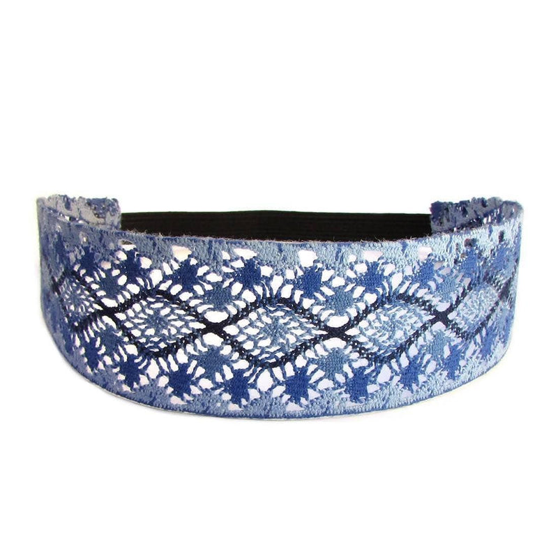 Headbands - Sky, Blue Boho Chic Crochet Headband