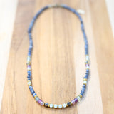"""Renewal"" Kyanite Fluorite and Amazonite Delicate Necklace"