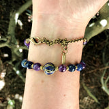 Necklaces - Amethyst And Sodalite Mala Choker Or Wrap Mala Bracelet For Healing