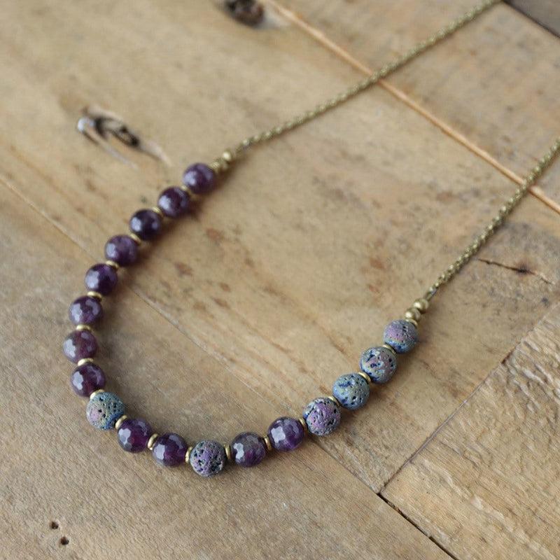 Necklaces - Amethyst Essential Oil Diffuser Necklace