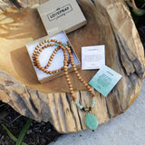 Necklaces - Aventurine And Sandalwood 'Good Luck And Prosperity' Mala Necklace
