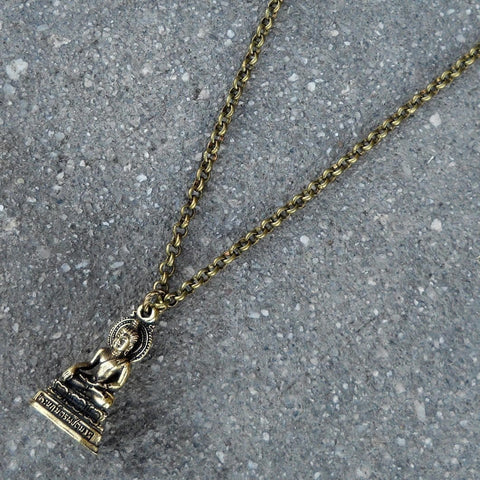 Buddha pendant chain necklace