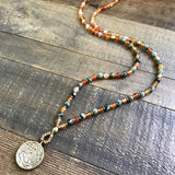 Necklaces - Carnelian And African Turquoise 'Stability And Change' Mala Necklace