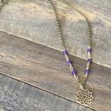 Necklaces - Crown Chakra Amethyst Gemstone Delicate Necklace