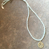 Necklaces - Fine Faceted Amazonite And Sterling Silver 'Throat Chakra' Pendant Necklace