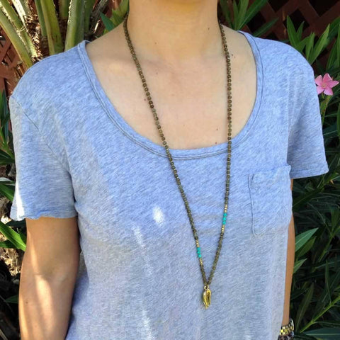 Labradorite and Turquoise Mudra necklace