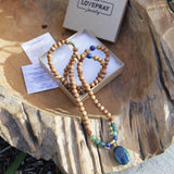 Necklaces - Lapis Lazuli And Sandalwood 'Intuition And Healing' Mala Necklace